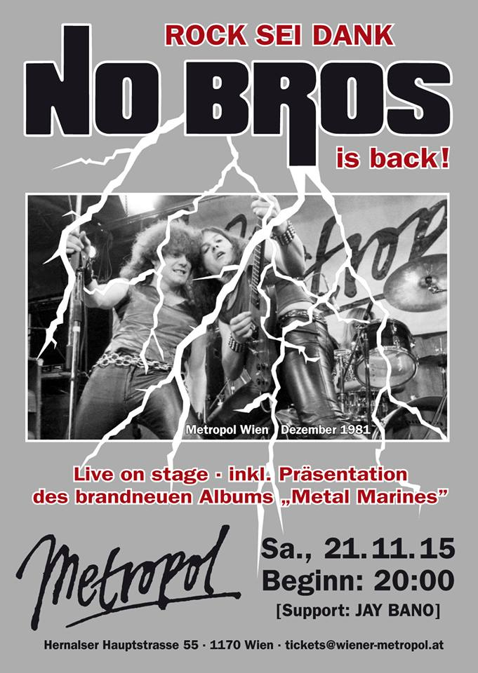 Plakat NO BROS Metropol Wien 21 Nov 2015